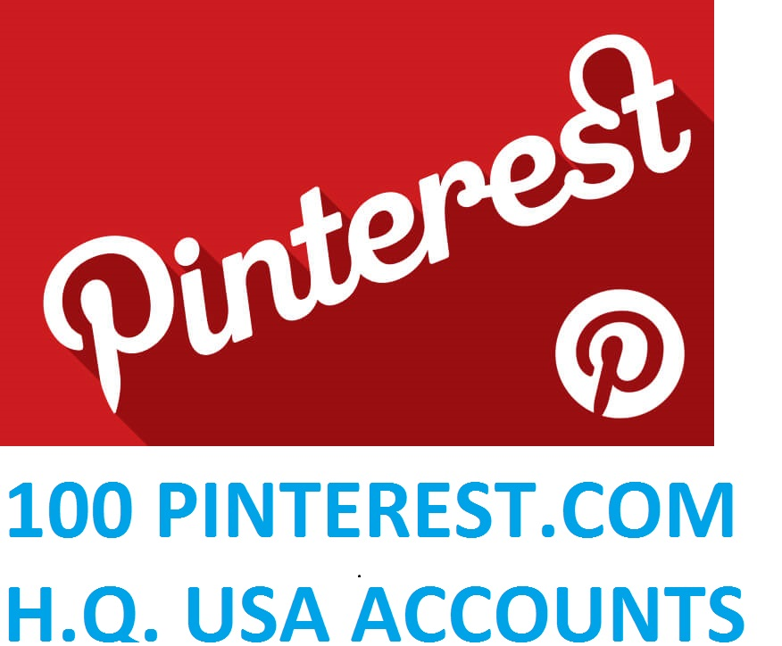 100 PINTEREST.COM USA HIGH QUALITY ACCOUNTS