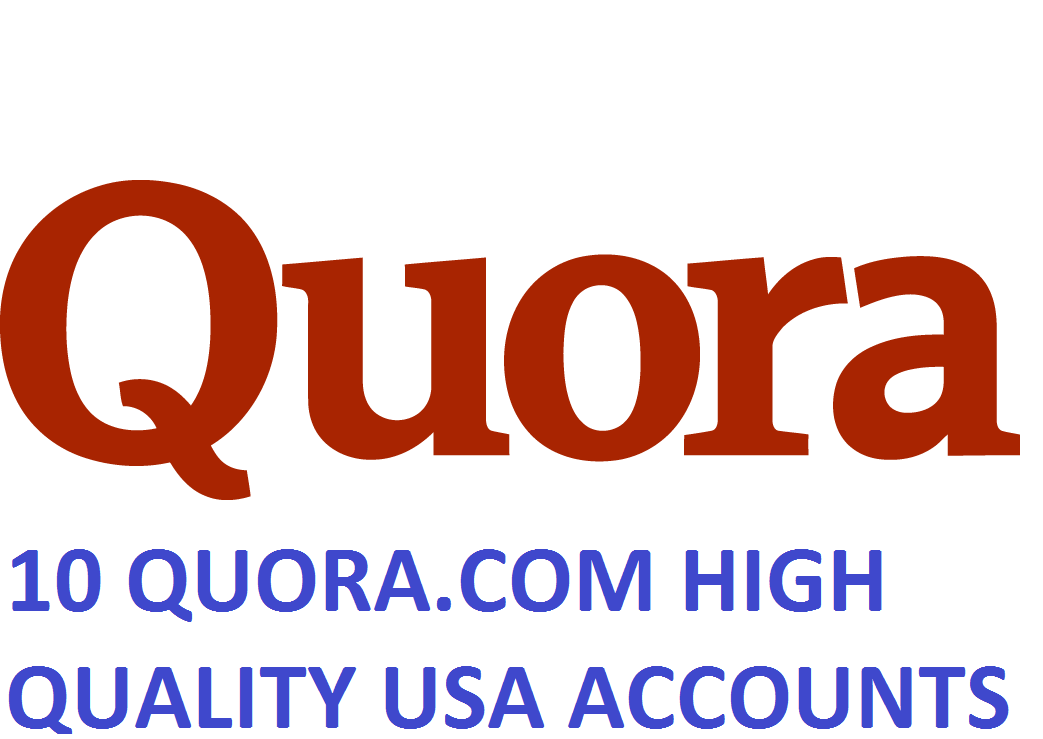 10 QUORA.COM HIGH QUALITY USA ACCOUNTS