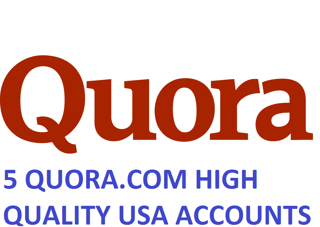 5 QUORA.COM HIGH QUALITY USA ACCOUNTS