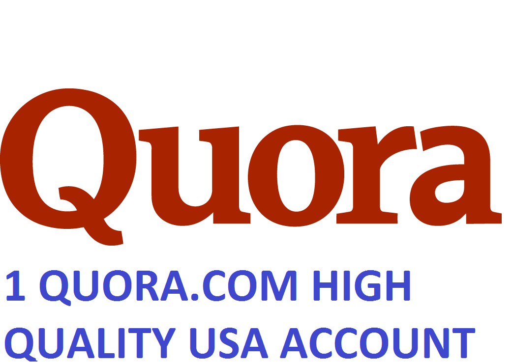 1 QUORA.COM HIGH QUALITY USA ACCOUNT