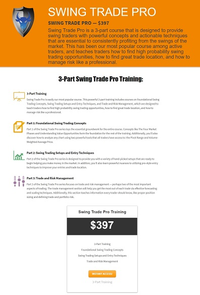SWING TRADE PRO TRAINING COURSE