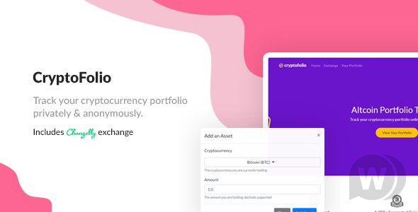CryptoFolio - script anonymous cryptocurrency portfolio