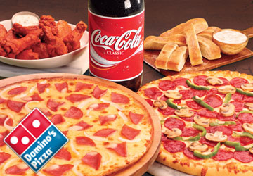 2x Dominos Pizzas 120 Points Eat Now