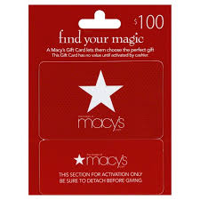 $100 Macy's gift cards