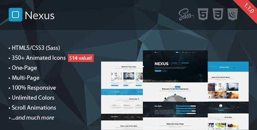 Nexus - Responsive Multipurpose HTML5 Template v.1.0.0