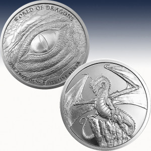 The Welsh 1 oz Silver Round | World of Dragons Series