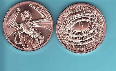 The Welsh 1 oz Copper Round | World of Dragons Series