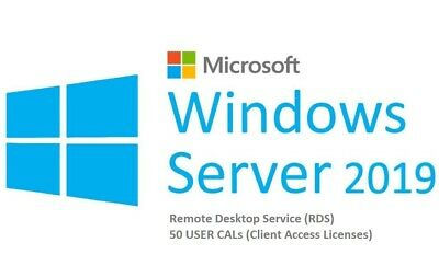Windows – Windows Server 2019 RDS 50 user connections