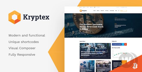 Kryptex v1.1.0 - WordPress Cryptocurrency Theme