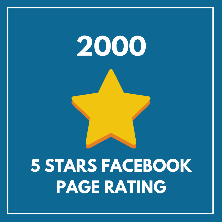2000 5 Star Facebook Page Rating