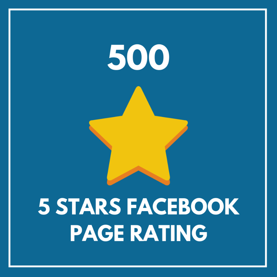 500 5 Star Facebook Page Rating