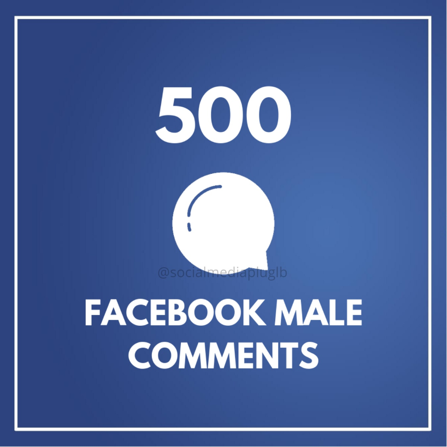 500 Facebook Male Comments (Real)