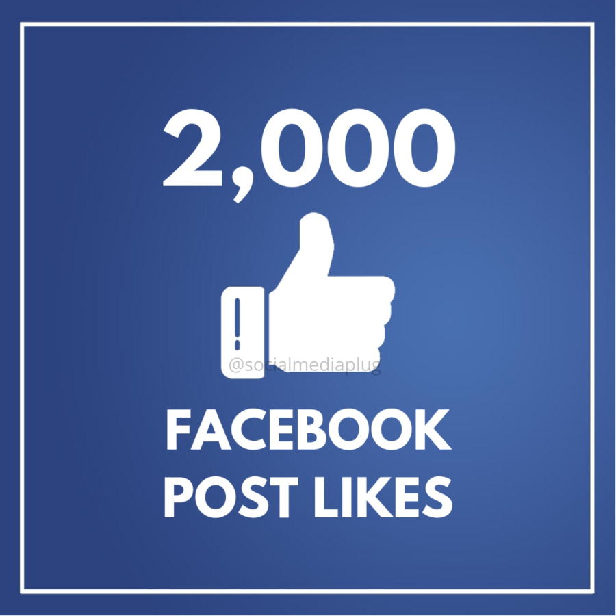 2000 Facebook Post Likes (HQ)