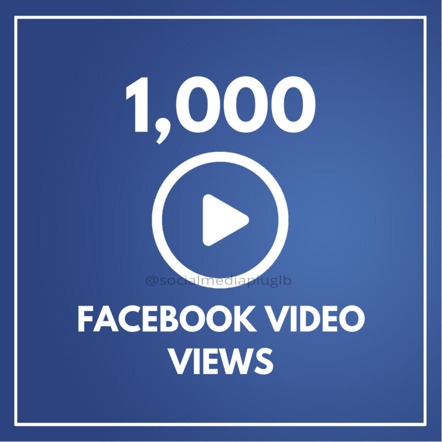 1000 Facebook Video Views (HQ)