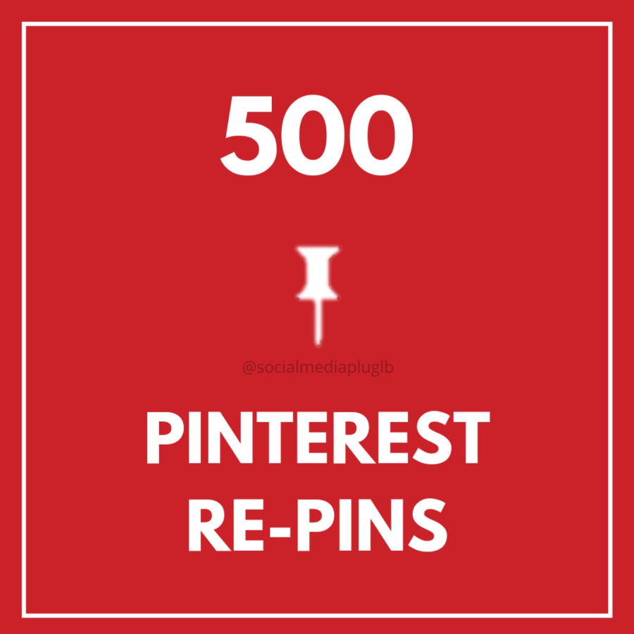 500 Pinterest Repins (HQ)
