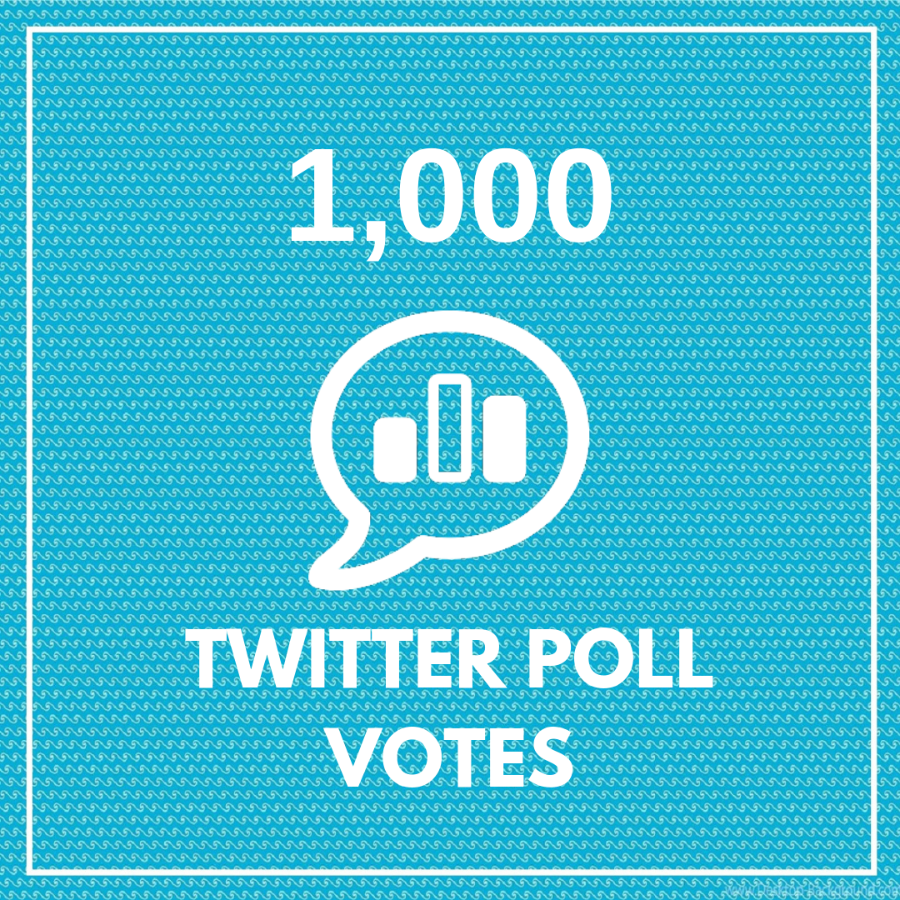 1000 Twitter Poll Votes (HQ)