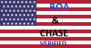 BOA and CHASE USA account verified