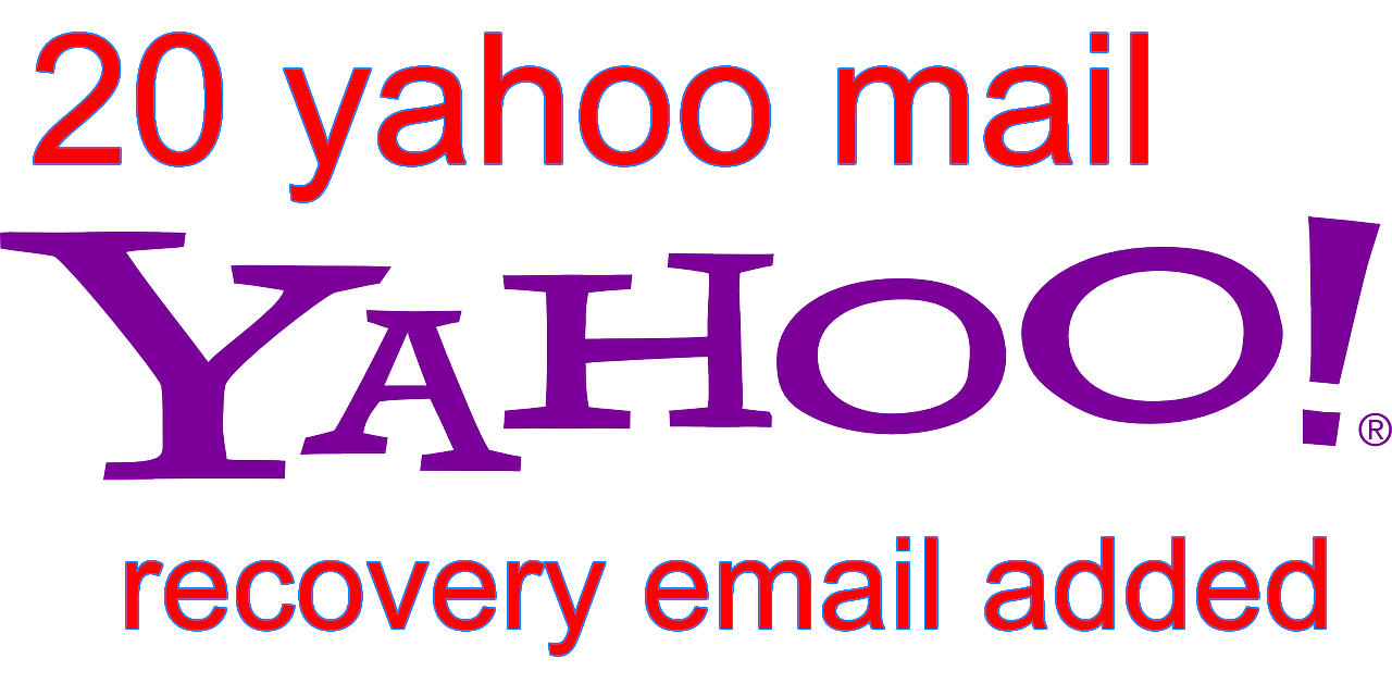 20 yahoo account HQ/PVA with email/yahoo recovery added