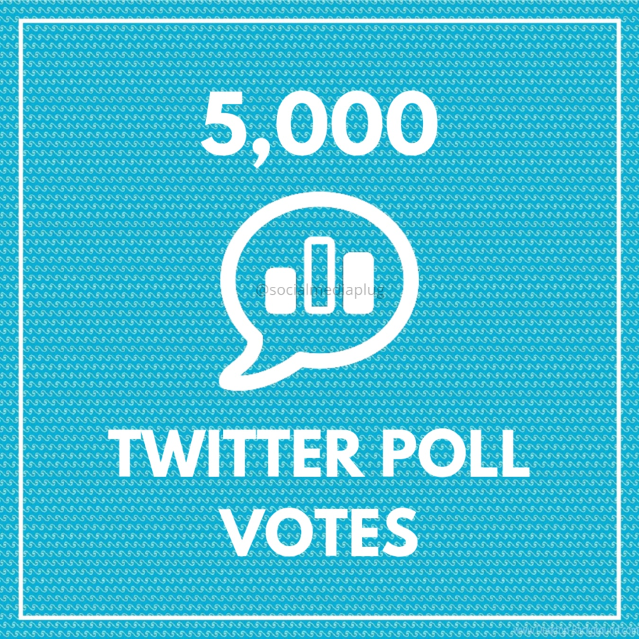 5000 Twitter Poll Votes (HQ)
