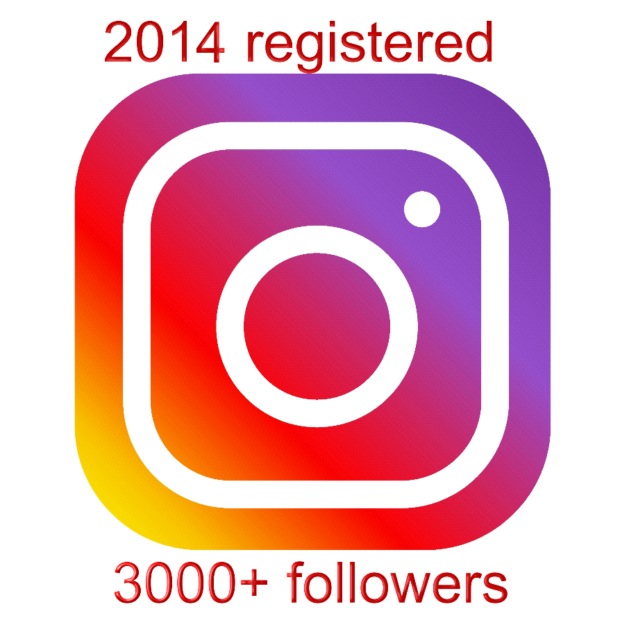 instagram account aged 2014 with 3000+ followers
