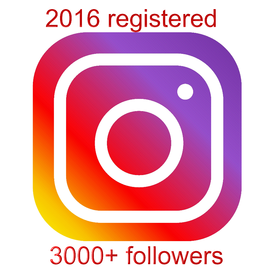 instagram account aged 2016 with 3000+ followers
