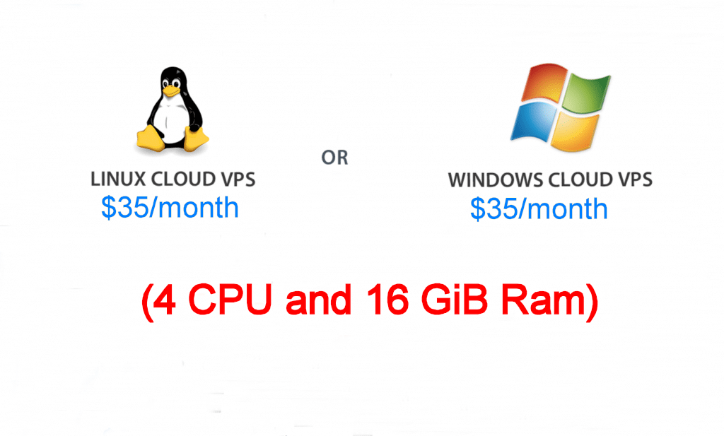 windows vps or linux vps (4 CPU | 16 GiB Ram)