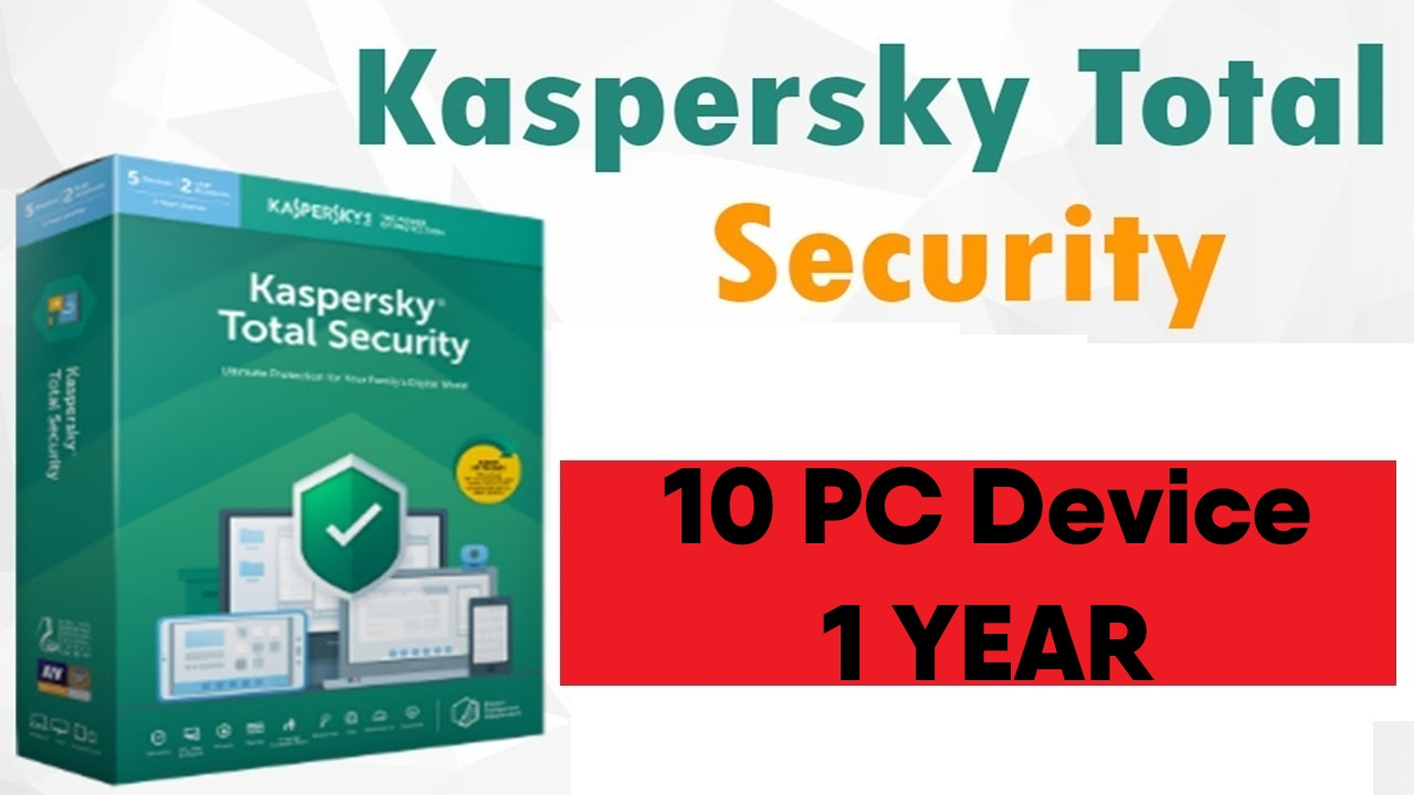 Kaspersky Total Security 2020 for 10 PC/Devices 1 Year