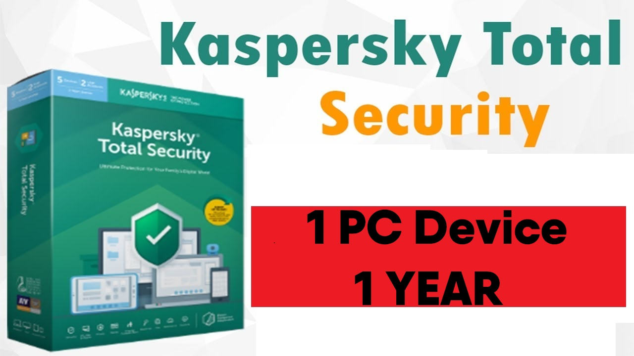 KASPERSKY TOTAL SECURITY  2019-2020 - 1 Year