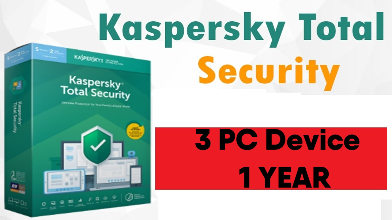 Kaspersky TOTAL Security 2019 2020 - 3 PC/Device 1 Year