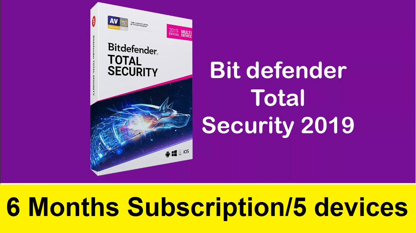 Bitdefender Total SECURITY 2019/2020 - 6month/5 devices