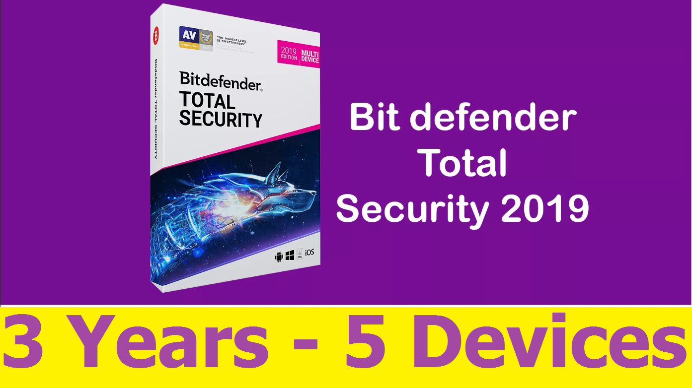 Bitdefender Total Security 2019 – 3 YEARS 5 DEVICES