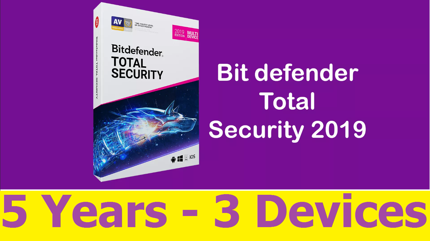 Bitdefender Total Security 2019 – 5 YEARS 3 DEVICES