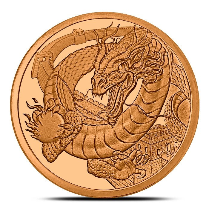 The Chinese 1 oz Copper Round | World of Dragons Series