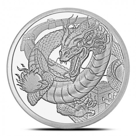 The Chinese 1 oz Silver Round | World of Dragons Series
