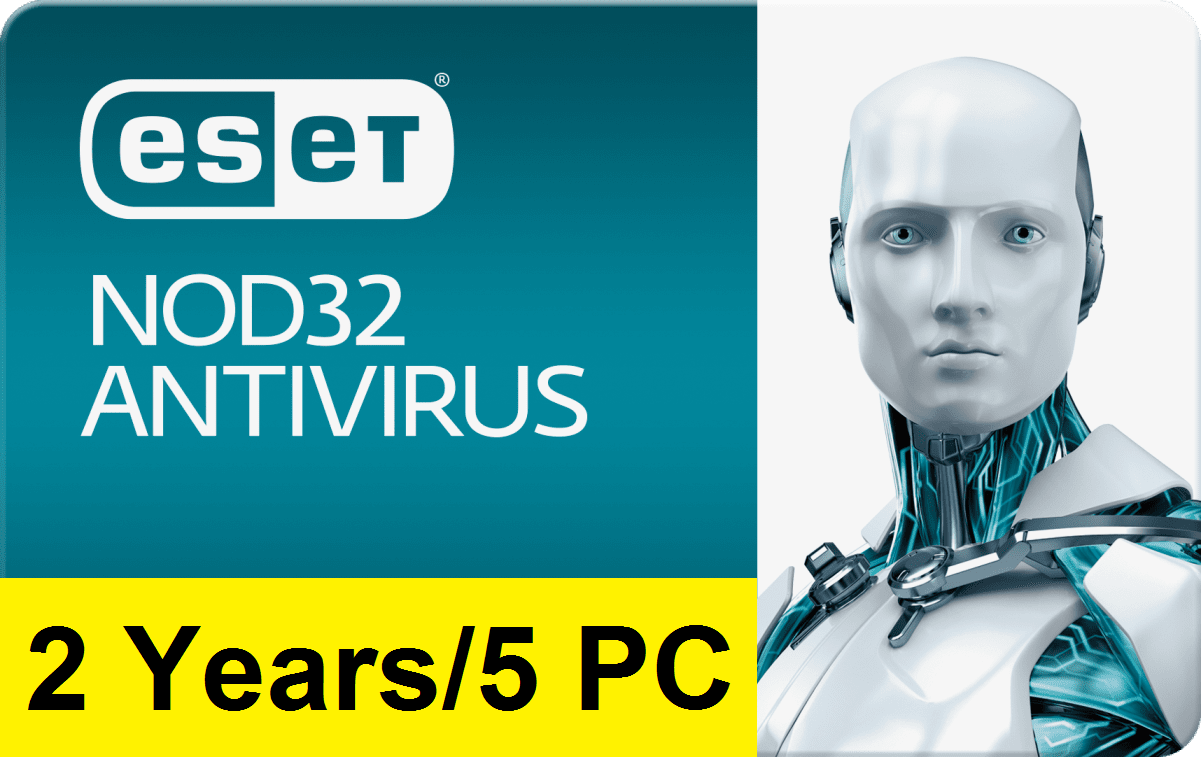 Eset Nod32 Antivirus V12 2019 – 2 Years/5 PC Key G...