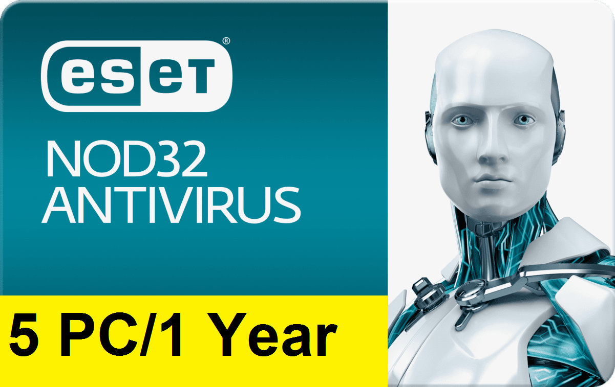 Eset Nod32 Antivirus V12 2019 – 1 Year/5 PC Key Gl...