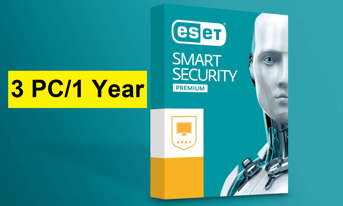 ESET Smart security premium 3 PC 1 year 2019