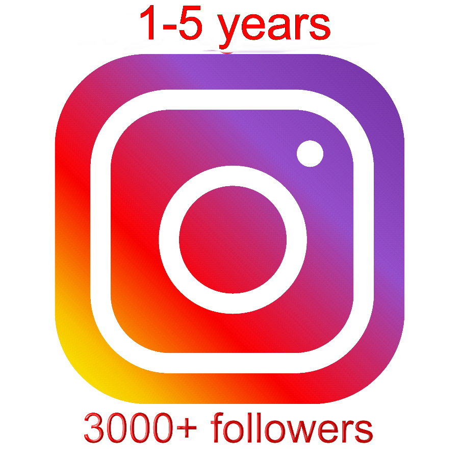 instagram account aged 1-5 years