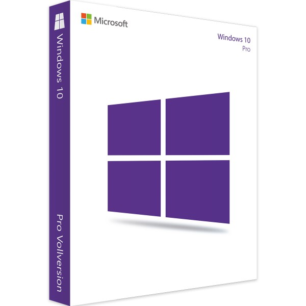 Windows 10 Professional 64 BIT/32BIT Full-Version 1 PC