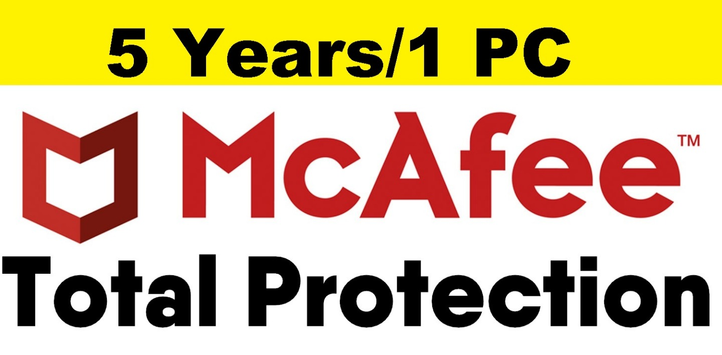 McAfee Total Protection 2019 – 5 Years/1 PC