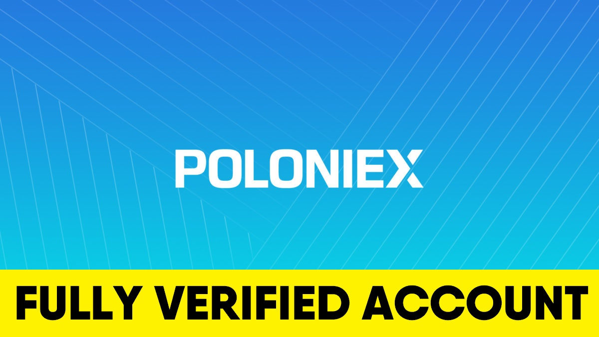 Fully Verified Poloniex account