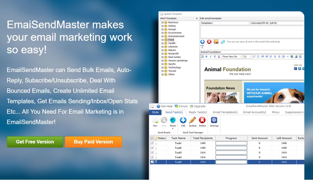 Email sending Master Elite -send bulk emails (lifetime)