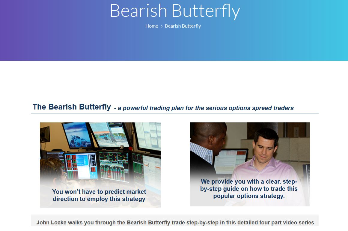 SMB – The Bearish Butterfly Strategy Four Part Video