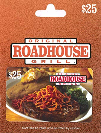 $100 [4x25$] Original RoadHouse Gift Cards - Instant