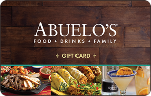 Abuelo's Mexican Restaraunt $25 Gift Card