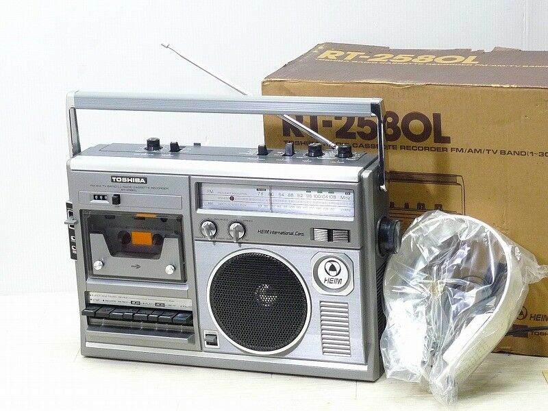 Toshiba RT-2580L Radio Cassette Recorder With Headphone