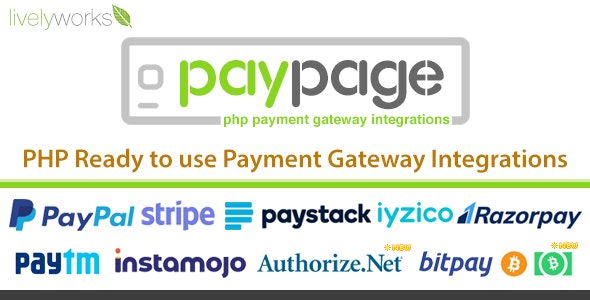 PayPage v1.2.0 - PHP ready to use Payment Gateway