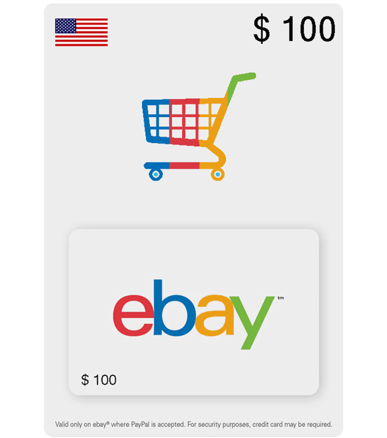eBay eGift Card US — 100$