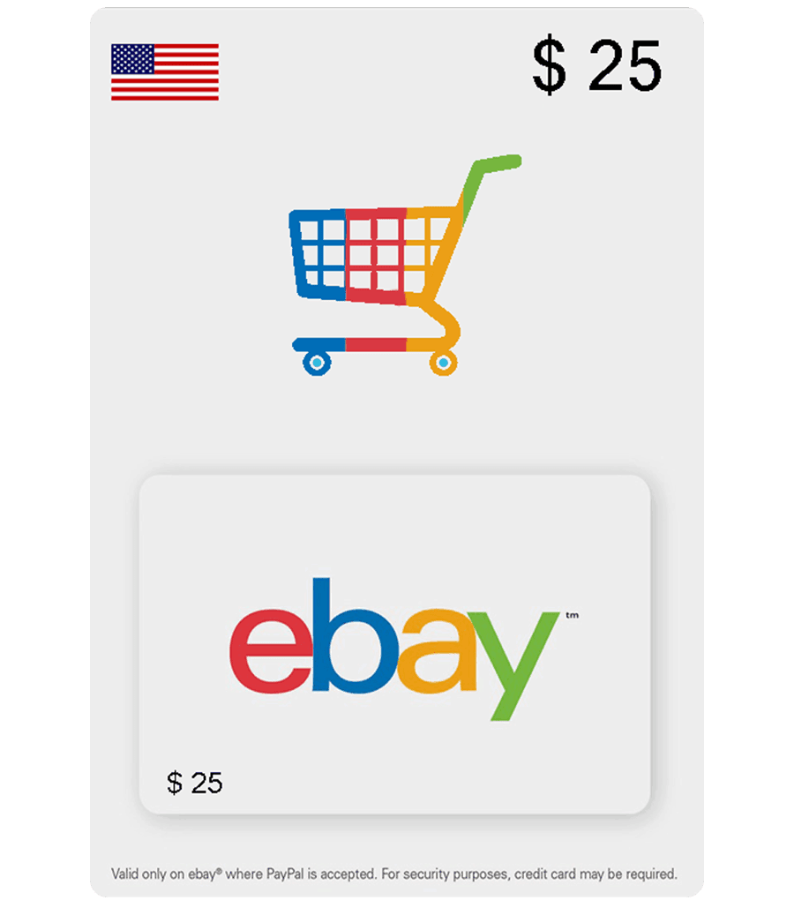 eBay eGift Card US — 25$