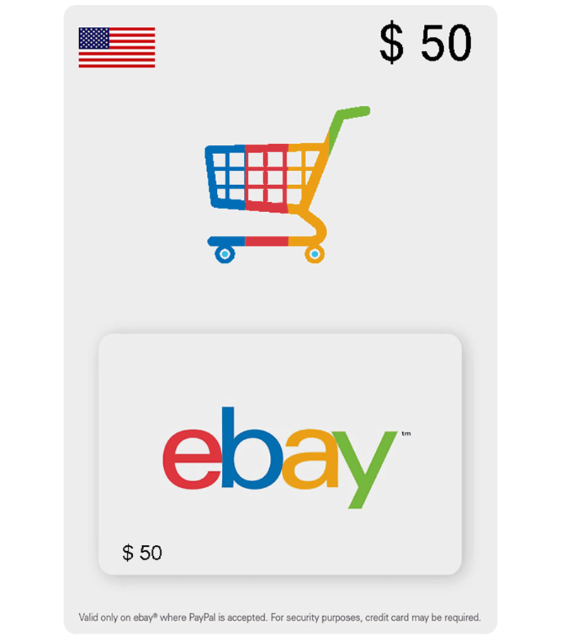 eBay eGift Card US — 50$